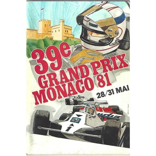 1981 Monaco Grand Prix Programme & Mobil Saudi Leyland Williams window sticker