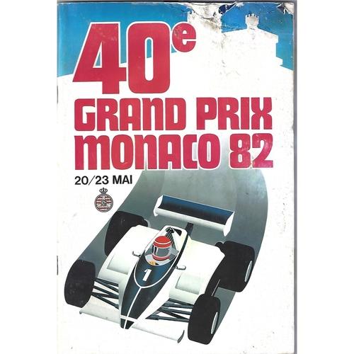 1982 Monaco Grand Prix Programme