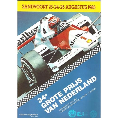1985 Dutch Grand Prix Programme