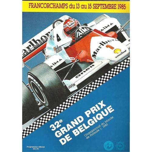 1985 Belgium Grand Prix Programme