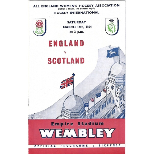 1964 England v Scotland Women's International Rugby League Programme