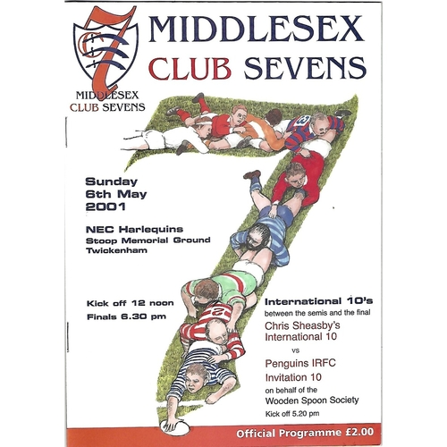 2001 Middlesex Club Sevens Rugby Union Programme