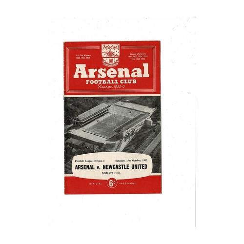 1955/56 Arsenal v Newcastle United Football Programme