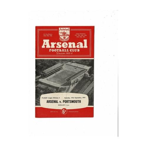 1955/56 Arsenal v Portsmouth Football Programme