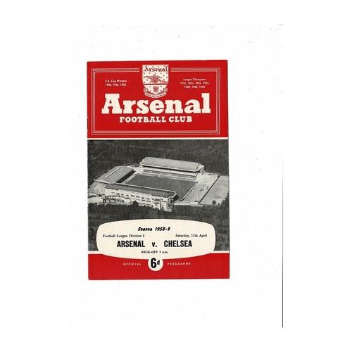 1958/59 Arsenal v Chelsea Football Programme