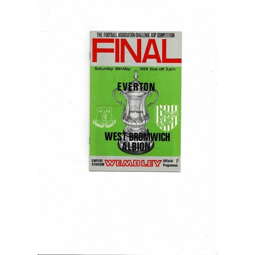 1968 Everton v West Bromwich Albion FA Cup Final Football Programme