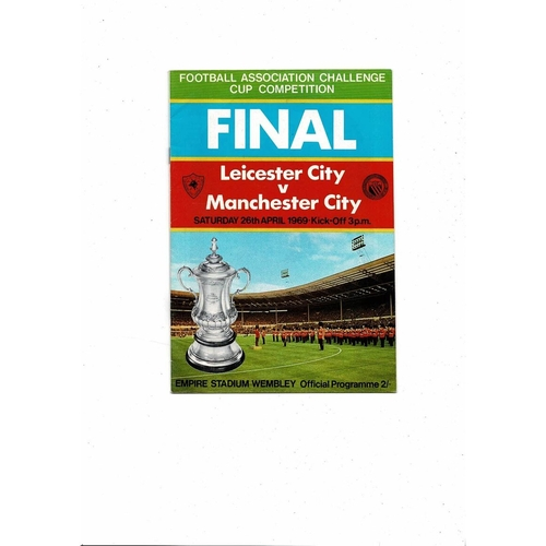 1969 Leicester City v Manchester City FA Cup Final Football Programme