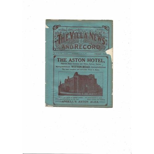 1921/22 Aston Villa v Newcastle United ex bound volume Football Programme + Sheffield United Reserves