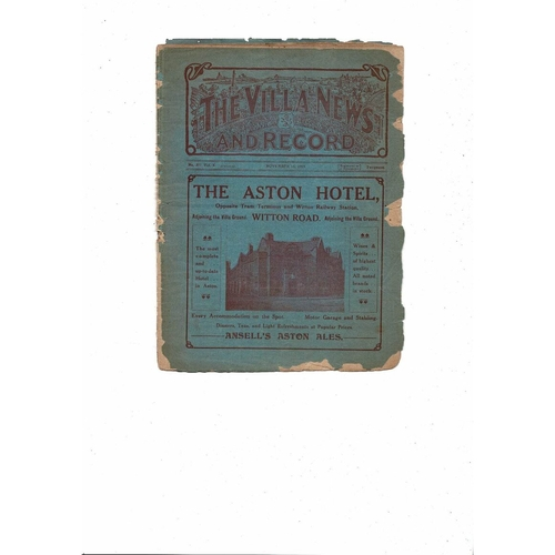 1919/20 Aston Villa v West Bromwich Albion ex bound volume Football Programme