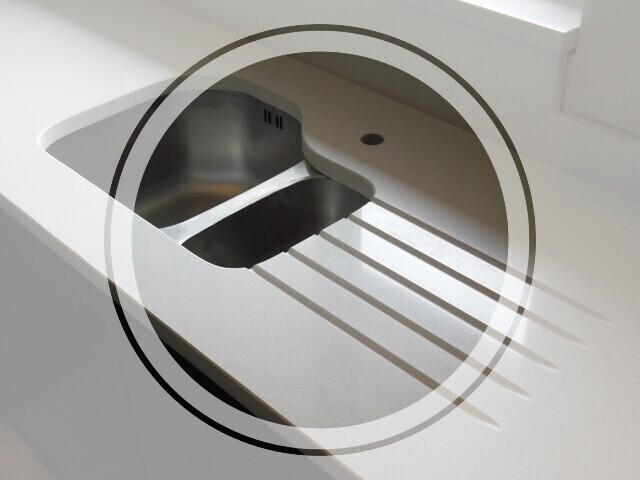 drainer grooves kitchen worktops