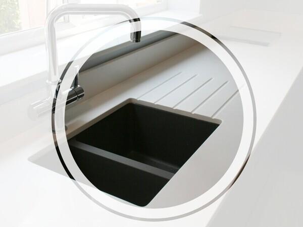 undermount sink kitchen worktop