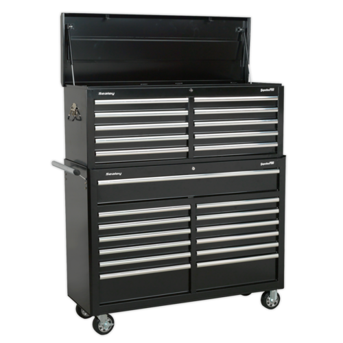 Tool Chest Combination 23 Drawer with Ball Bearing Slides - Black - AP52COMBO2