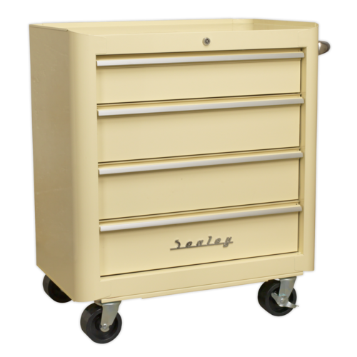 Rollcab 4 Drawer Retro Style - Sealey - AP28204