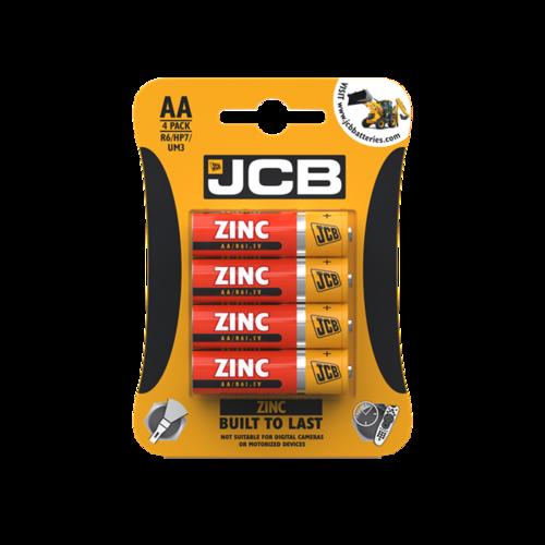 JCB AA ZINC BATTERIES, PACK OF 4