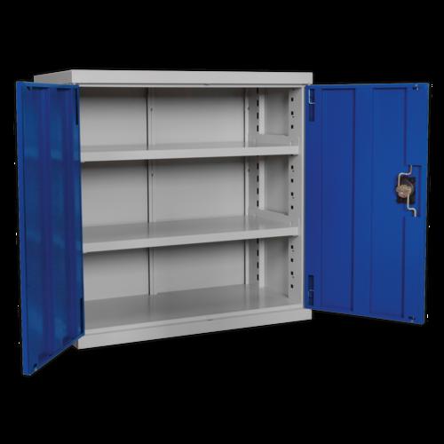 Industrial Cabinet 2 Shelf 900mm - Sealey - APICCOMBOH2