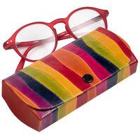 Rainbow Leather Glasses Case