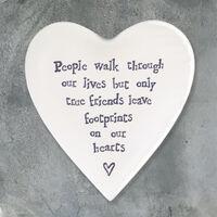East Of India Porcelain Coaster-People Walk
