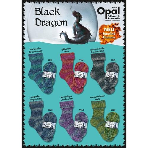 Opal 4ply Black Dragon