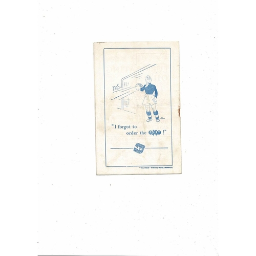1954/55 Blackburn Rovers v Notts County Football Programme