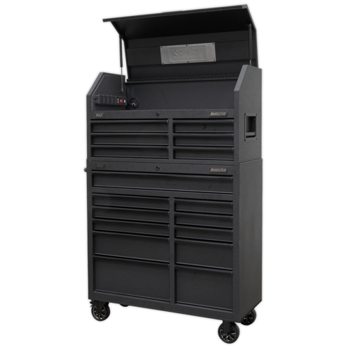 17 Drawer Tool Chest Combination Soft Close Drawers with Power Bar - AP41BESTACK