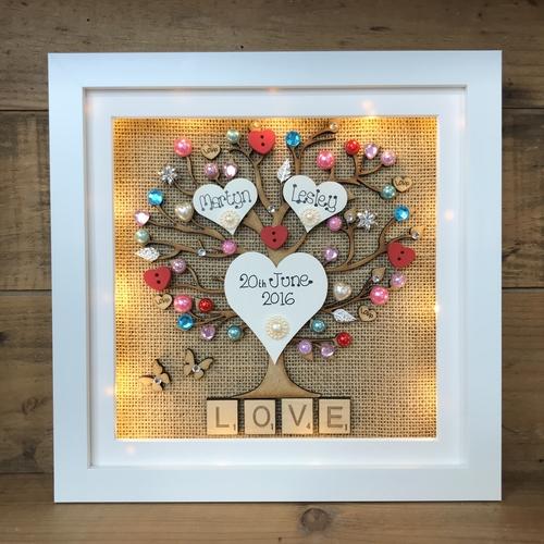 LED love hearts frame ❤️