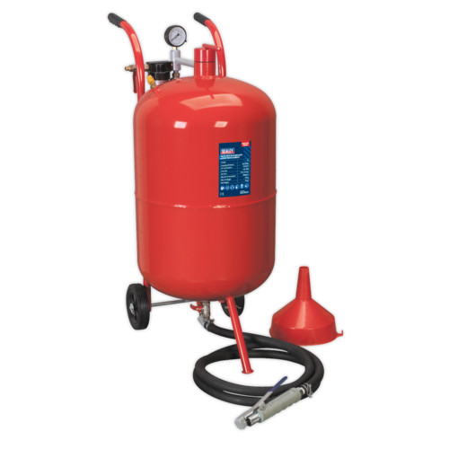 Shot Blaster with Water Trap & Wheels 75ltr - Sealey - SB998
