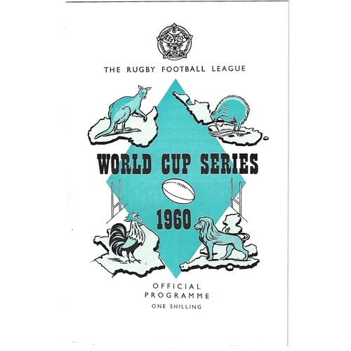 1960 Australia v New Zealand Rugby League World Cup Programme & Match Ticket