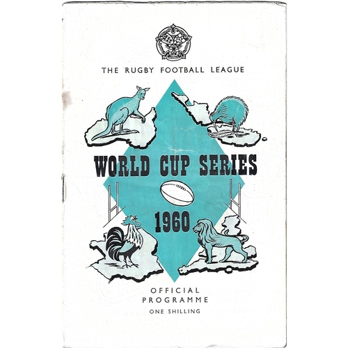 1960 Australia v New Zealand Rugby League World Cup Programme