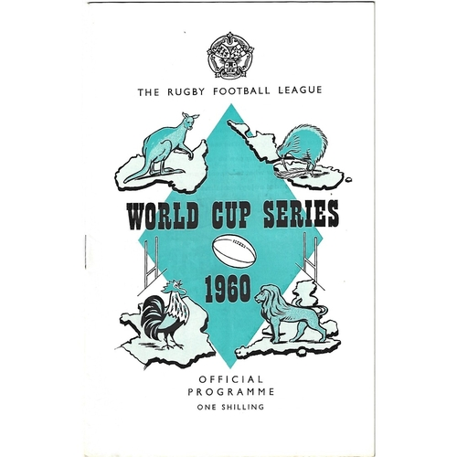 1960 Great Britain v France Rugby League World Cup Programme