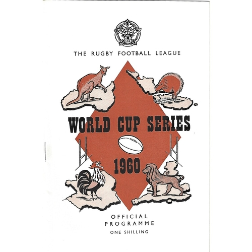 1960 France v New Zealand Rugby League World Cup Programme