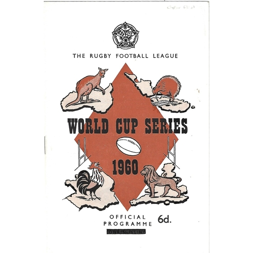 1960 Great Britain v Rest of the World Rugby League World Cup Programme