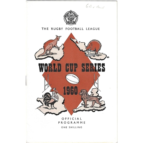 1960 Great Britain v Australia Rugby League World Cup Programme