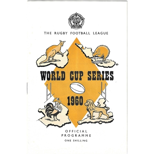 1960 Australia v France Rugby League World Cup Programme