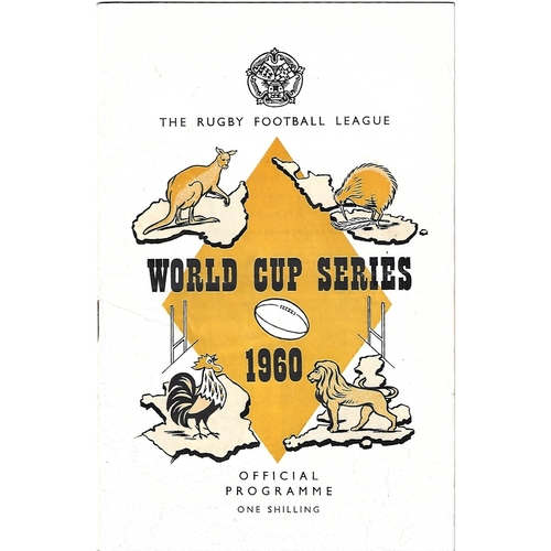 1960 Great Britain v New Zealand Rugby League World Cup Programme