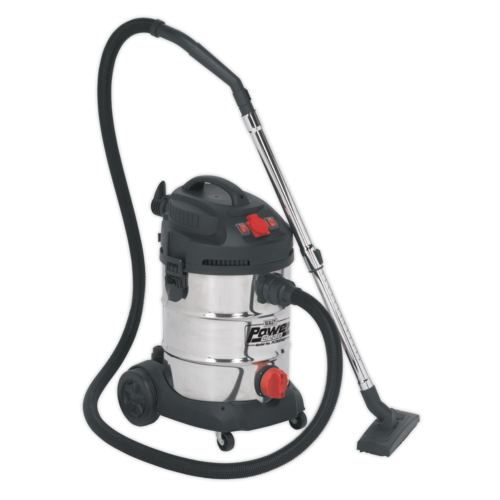 Vacuum Cleaner Industrial 30ltr 1400W/230V Stainless Drum Auto Start - PC300SDAUTO