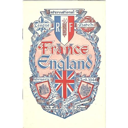 1946 England v France Rugby League Programme