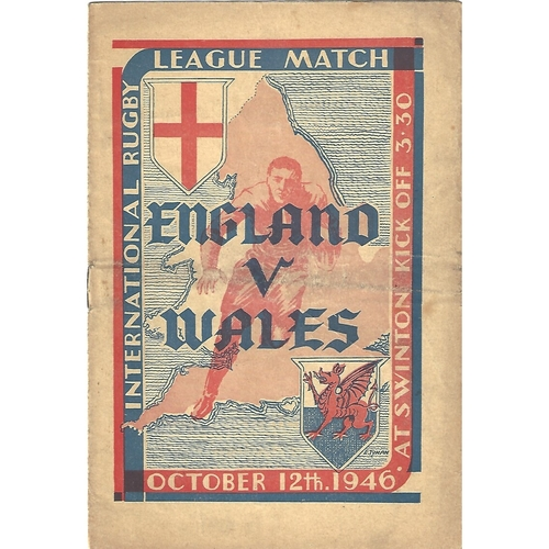 1946 England v Wales Rugby League Programme