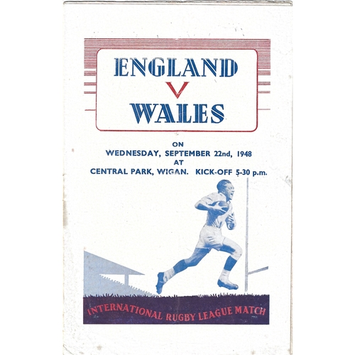 1948 England v Wales Rugby League Programme