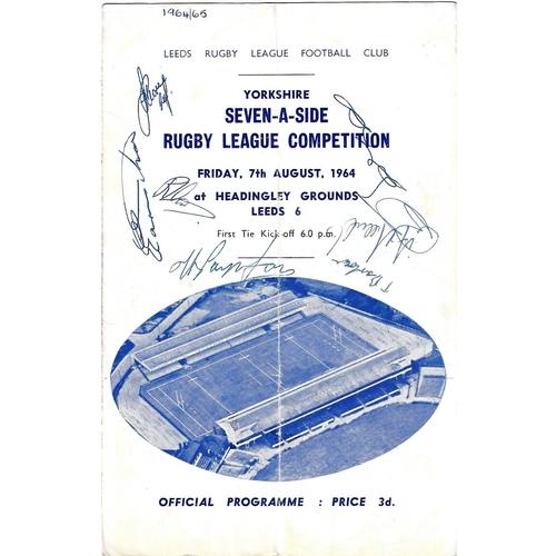 Rugby League Sevens Tournaments Programmes