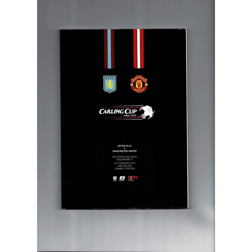 2010 Aston Villa v Manchester United League Cup Final Football Programme