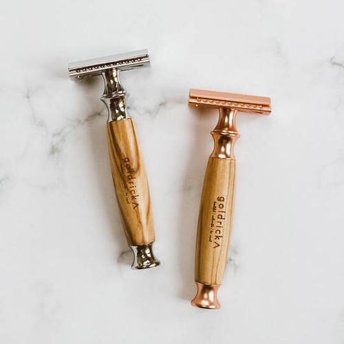 Goldricks Reusable Razor Olive