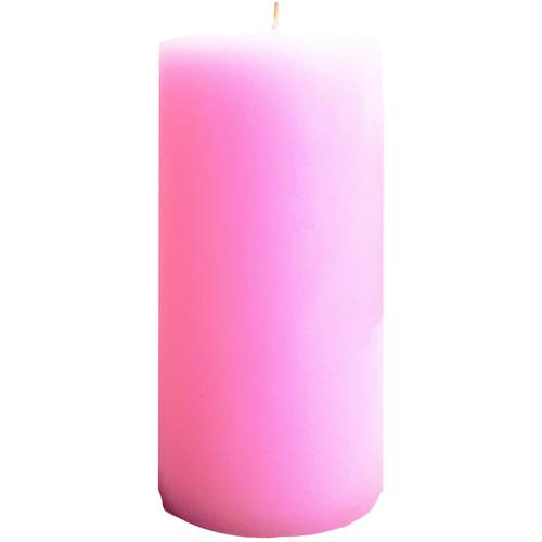 """Pink Pillar Candle (3x6"""")"""