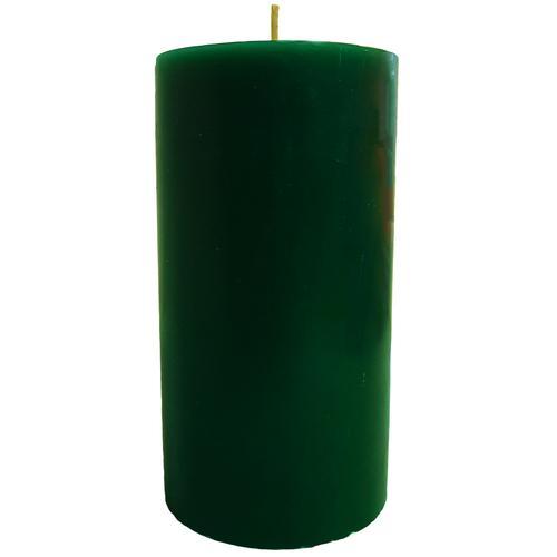 "Green Pillar Candle (3x6"")"
