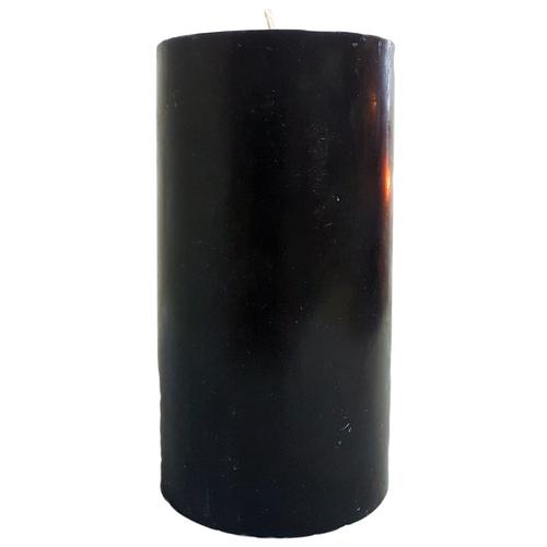 "Black Pillar Candle (3x6"")"