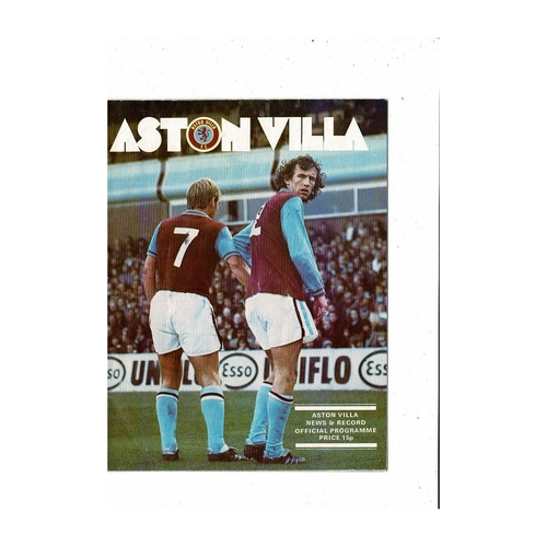 1976/77 Aston Villa v Queens Park Rangers League Cup Semi Final Football Programme