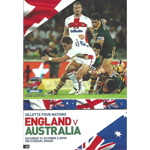 Four Nations Rugby League Programmes