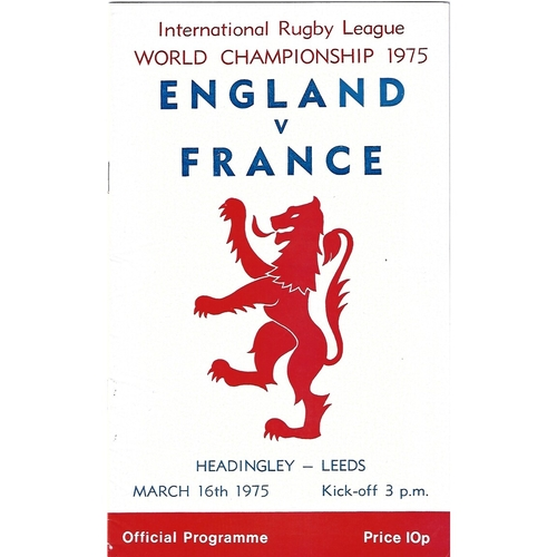 England Rugby League Programmes