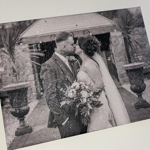 Glitter Wedding Photo Canvas