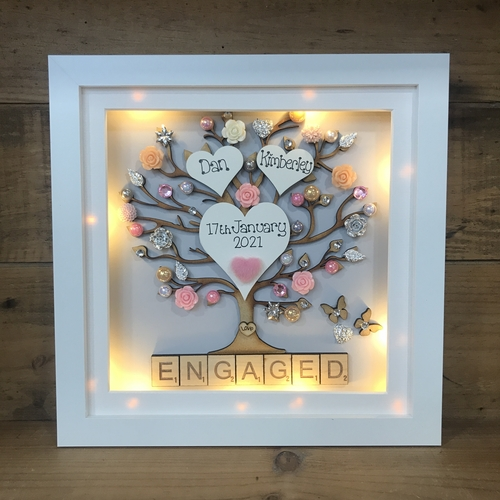LED floral engaged frame
