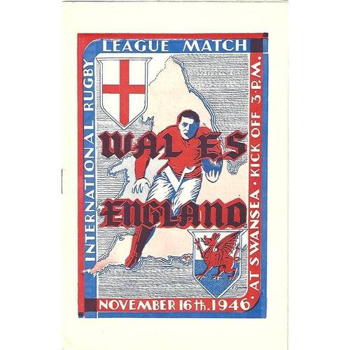 1946 Wales v England Rugby League Programme
